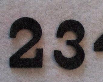 "2"" Craft Felt numbers Advent Christmas Calendar set 1-25   color your choice Carnival font"