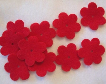 Six petal flower style 1C4  1.75 inches  set of 20