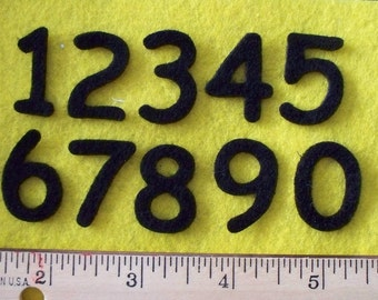 Felt numbers 1 inch color your choice 2 sets of 0-9