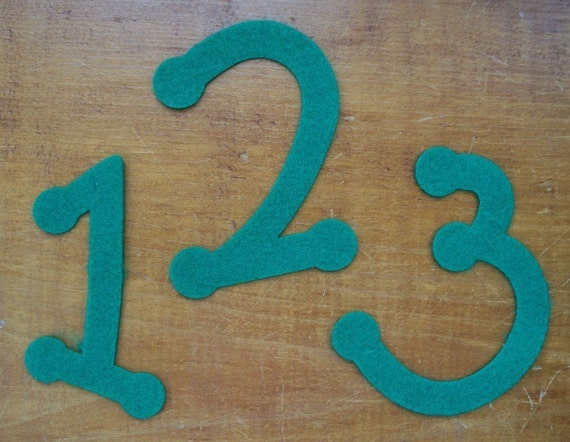 """Die cut Numbers 4"""""""