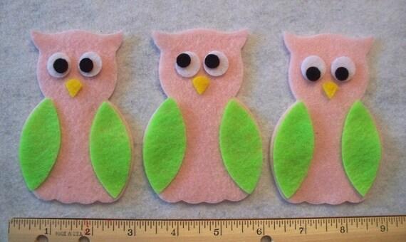 Felt Owl parts 27 pcs You pick Colors