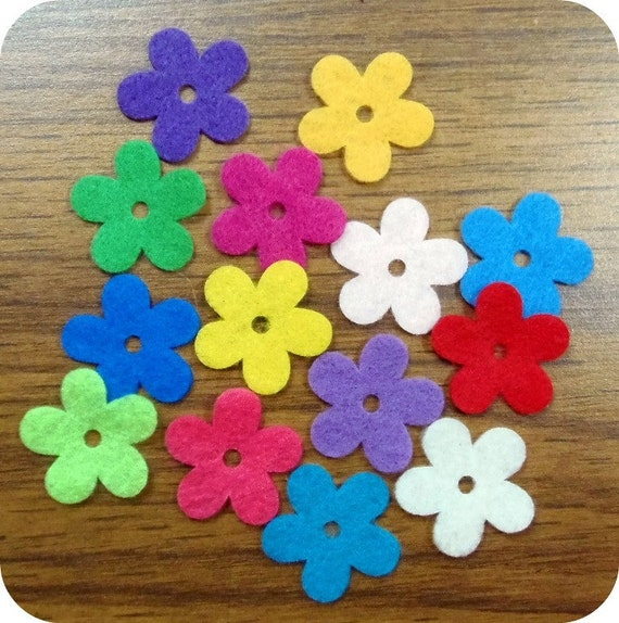 """Die cut 5 petal flowers 2"""" each.  30 pieces,  Assorted colors or Your choice."""
