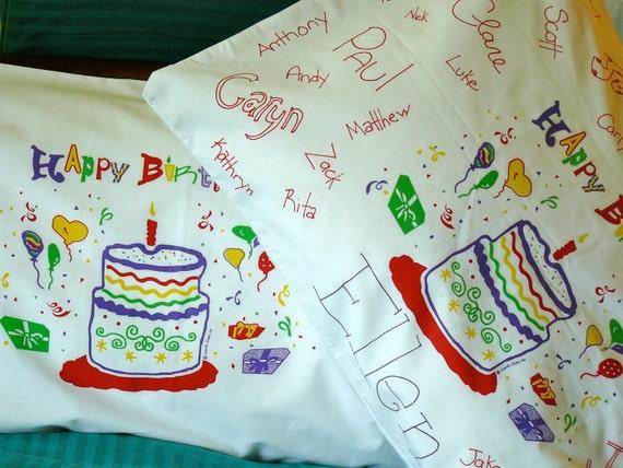 Happy Birthday Pillowcase Glow in the Dark pillowcase