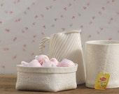 Porcelain basket (small). Design by Wapa Studio.