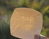 Small Porcelain Bowl. Funky flourish pattern. Handmade contemporary ceramic dish. Design by Wapa Studio.