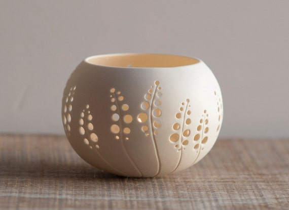 porcelain candle holder design N.8. Made to order. Wedding candle holder. Porcelain Tea light Delight Collection by Wapa Studio.