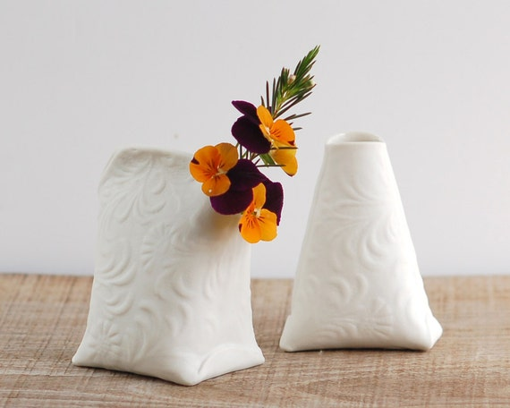 Artful Dodger Variations (Series N.1). Mini art ceramic vessels. Artful porcelain objects by Wapa Studio.