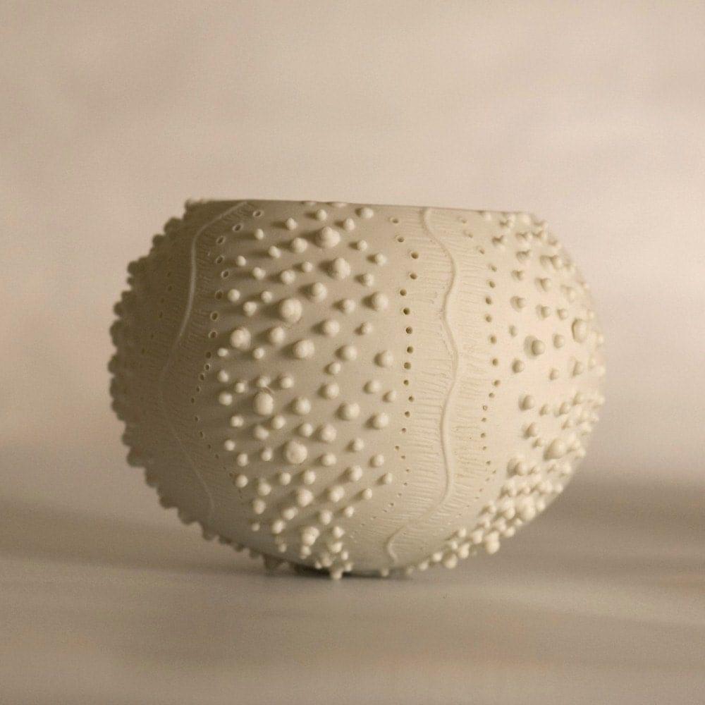 Ceramic Sea Urchin Candle Holder Porcelain Tea Light Delight