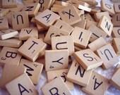 Vintage Scrabble Tile Tiles Blocks