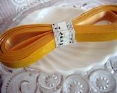 Vintage Yellow Golden Rod Flocked Velvet Ribbon Destash 5 yds.
