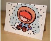 tiny snowboy - winter card