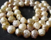 1/2 Strand---Rosebud Druzy Rare Freshwater Pearls