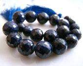 1/2 STRAND--Blue Sapphire Disco Faceted Rondelles