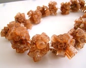 1/2 STRAND--Natural Aragonite Center Drilled Crystal Cluster Beads----REDUCED from 89.99