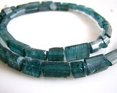 1/2 Strand---All Blue Tourmaline Faceted Crystal Nuggets--Highly Collectable Tourmaline