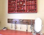 Original Repurposed Jewelry Display Red