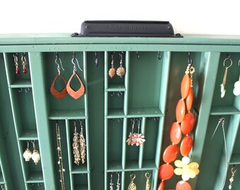 Moss Green Jewelry Display in Variety Style