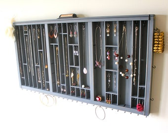 Shabby Chic Gray Jewelry Display