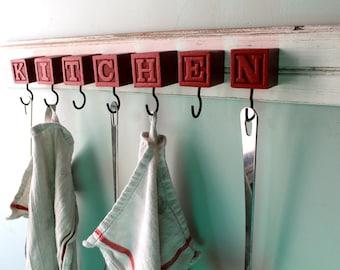 Kitchen Block hanging rack