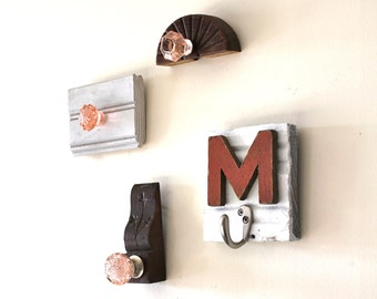 Pink, Coral, and Orange Nursery Wall Hooks- your pick