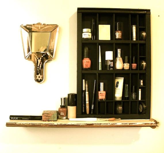 Printer Drawer Cosmetic Organizer with Shelf