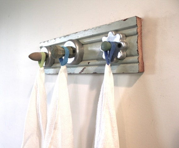 4th of JULY SALE...Cookie Cutter Hook Rack