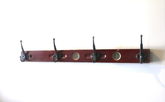 4th of JULY SALE...Red Level Wall hook Rack