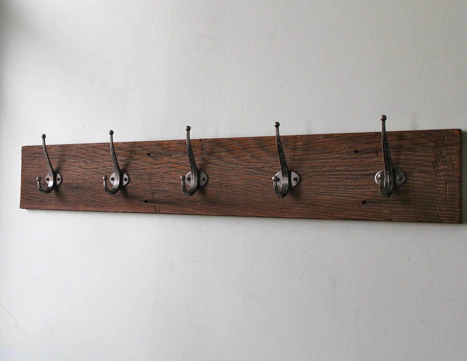 Reclaimed Barn Wood Coat Rack By Bluebirdheaven On Etsy. Full resolution‎  snapshot, nominally Width 1500 Height 1162 pixels, snapshot with #3F2F24.