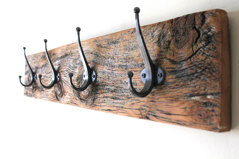 Wood Grain Reclaimed Barn Wood Coat Rack By Bluebirdheaven