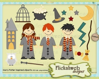 harry potter clipart inspired commerical use cliparts instant download clip art