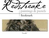 Handmade Fine Quality Art Print Bookmark by Redstreake - poodle dog