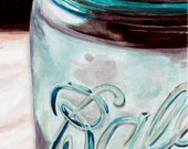 BALL JAR 5 x 7 inch print signed by artist