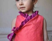 Instant download -pdf pattern -Ruffled kimono dress - 12m up to 4T-