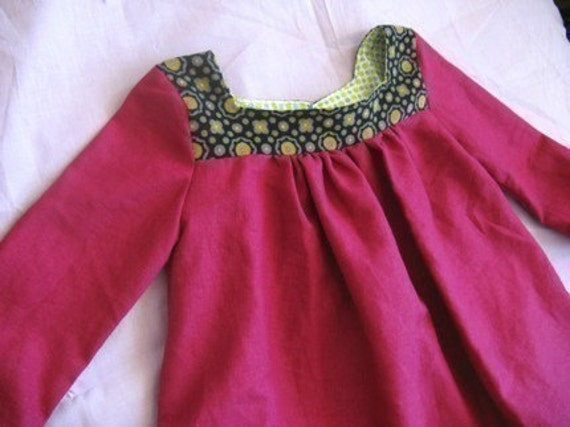 Epattern/Instructions MY PARISIAN DRESS- with endless options- 2T to 5T
