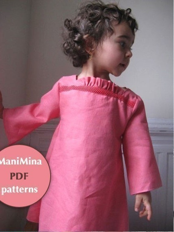 EPATTERN/Instructions - French Ruffle dress -  12m to 4T