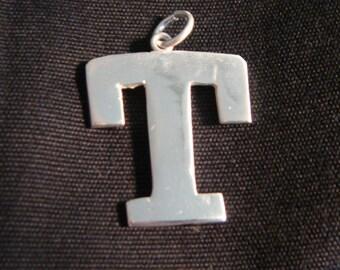 Monogram Fine Silver Pendant