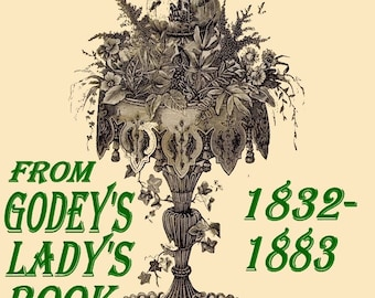 ODD VICTORIAN CRAFTS from Godey's Lady's Book 1800's  eBook pdf file
