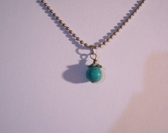 Turquoise Round Bead Necklace