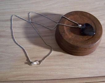 Black Gemstone Heart Necklace
