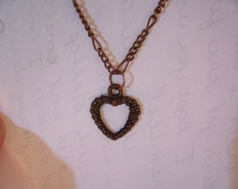 16 inch Copper Heart Necklace