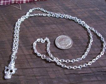 Silver Skeleton Necklace