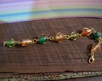 Bracelet - Gold wired beads