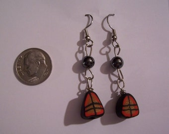 Polymer Clay Designer earrings- with hematite