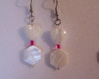 Mother of Pearl Heart Earrings