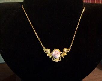 17 inch  Vintage Rose Necklace