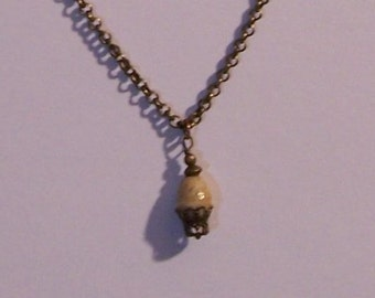Victorian style brass necklace