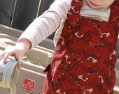Tractor toddler apron - reversible