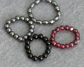 Custom Stretch Stone Bead Ring