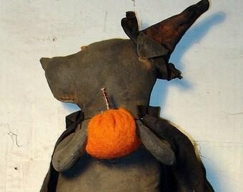 Pumpkin, A Primitive Folk Art Halloween Pattern