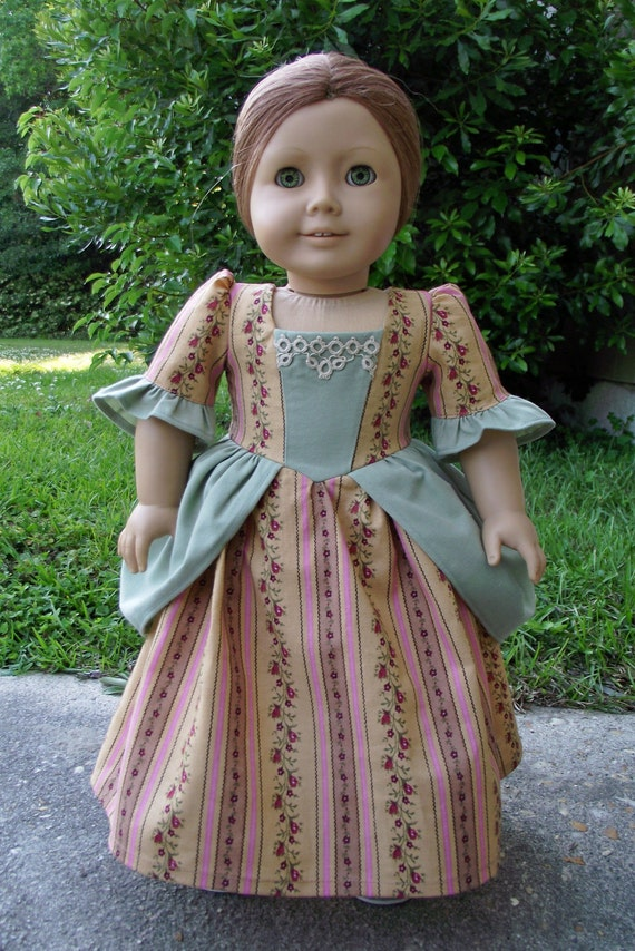 Colonial Spring Day Dress with Peplums